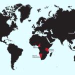 Eine Weltkarte mit den deutschen Kolonien vor dem ersten Weltkrieg. Grafik: Jakob Milling